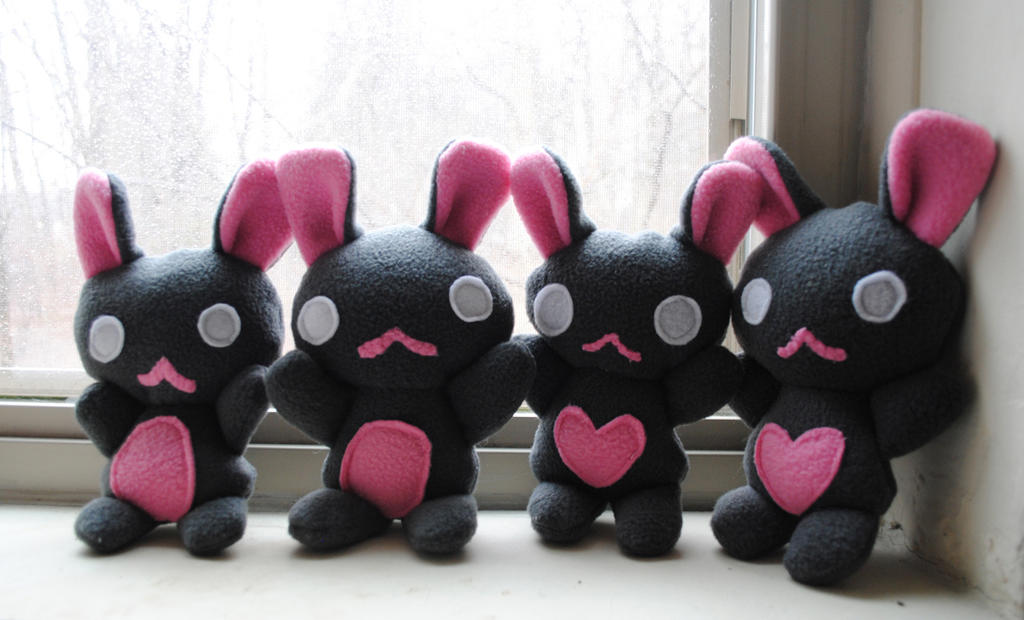 Grey Baby Bun Plushies by pookat