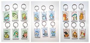 Starter Pokemon Keychains