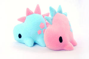 Cotton Candy Stego plushies by pookat