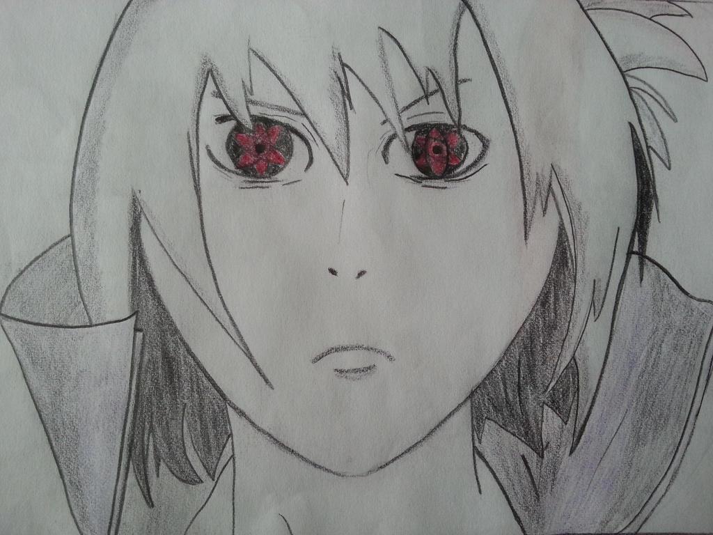How to Draw Sasuke's Eternal Mangekyou Sharingan - Naruto ... |Itachi Mangekyou Sharingan Drawing