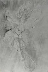 Fairy Drawing by MertOzel