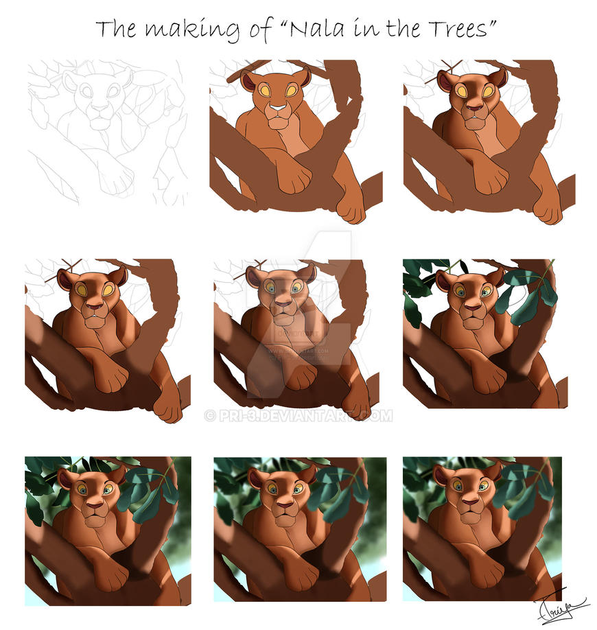 The Making of Nala in the Trees by Pri-3