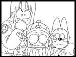 Pilaf,Mai and Shu Dragon Ball by minguinpingu05