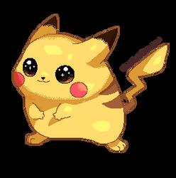 Pixel pikachu by EverlastingDerp