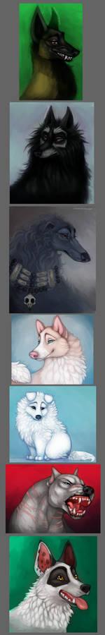 Canine art dump