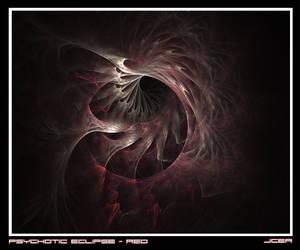 Psychotic Eclipse - Red Framed by jcer