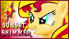 Sunset Shimmer Stamp by jewl-stamps