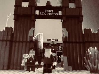 Welcome to Fort Legoredo by ColorStreakPony