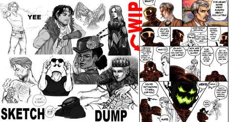 SketchDump by Humana-Animus