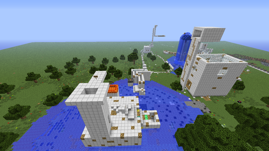 My first minecraft parkour course by imallamaaa