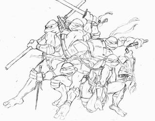TMNT: Leo, Raph, Venus, Don and Mikey by MCN51FJ
