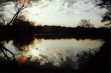 belmont lake watercolors by Leasie