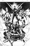 Uncanny X-Force BW version commission