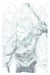 Aquaman piece pencil by. Tirso Llaneta by katoti