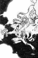 Rocket/Groot piece,artworks:Tirso Llaneta