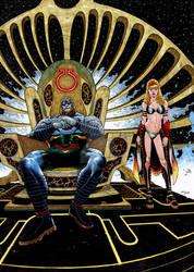 Darkseid/evil Supergirl 2 by Tirso Llaneta