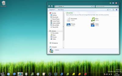 Windows 7 Skull Port by TheDarkenedPoet