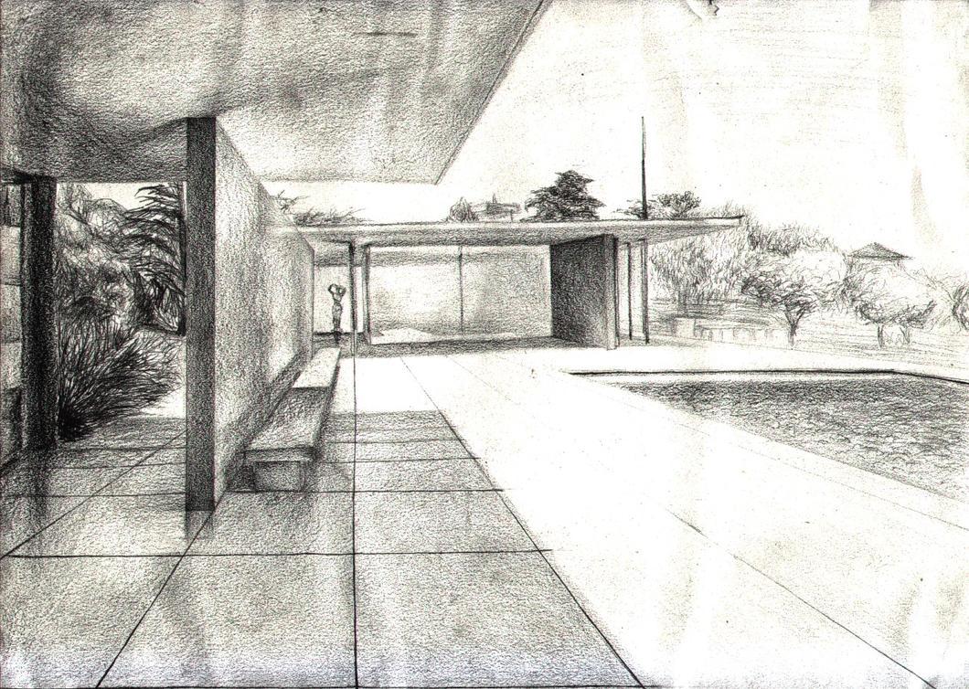 Barcelona pavilion interior - Mies Van Der Rohe By Ceccon On Deviantart