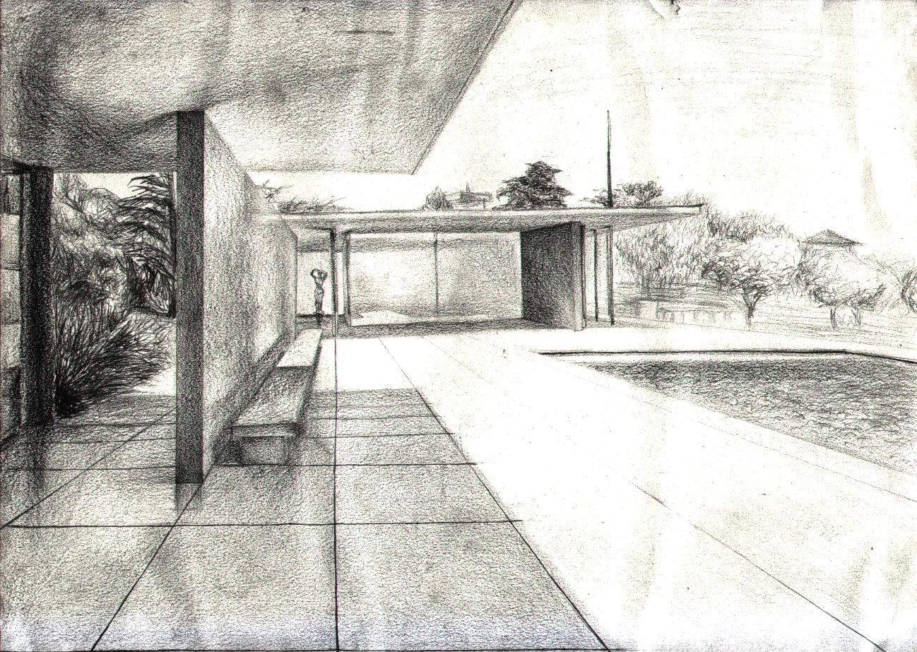 the gallery for mies van der rohe drawings. Black Bedroom Furniture Sets. Home Design Ideas