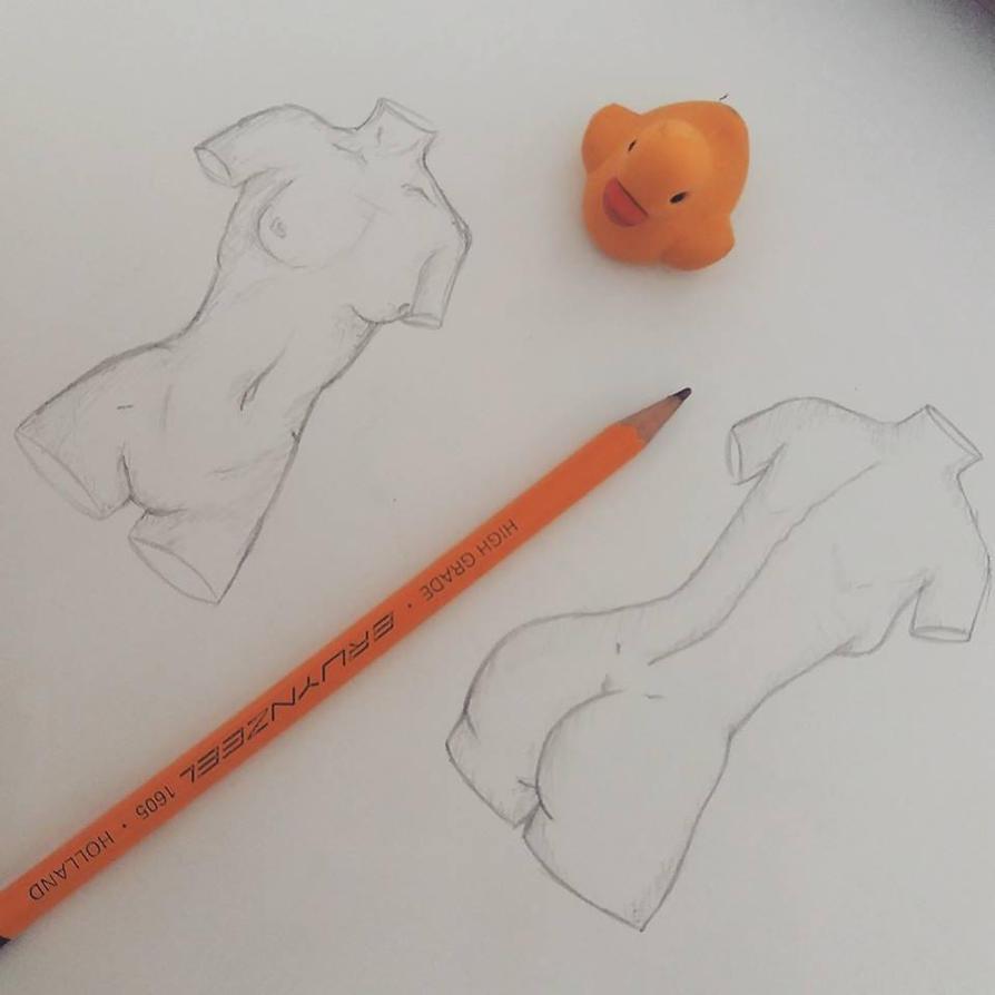 female anatomy sketch by AKSonne