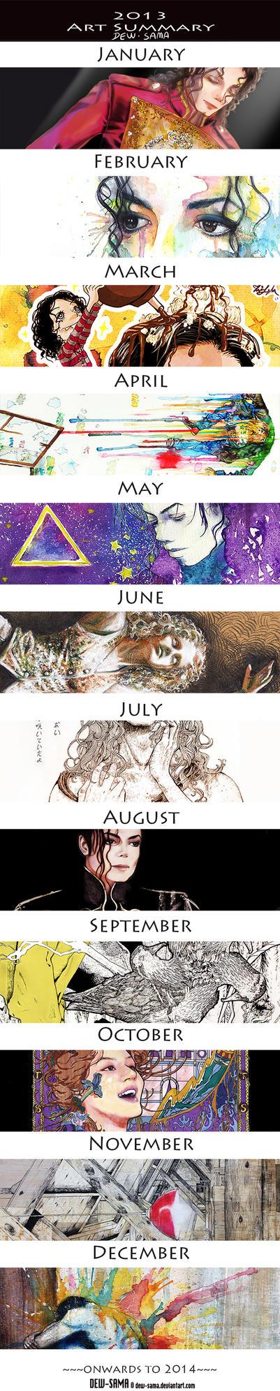 Art Summary 2013 by Dew-Sama