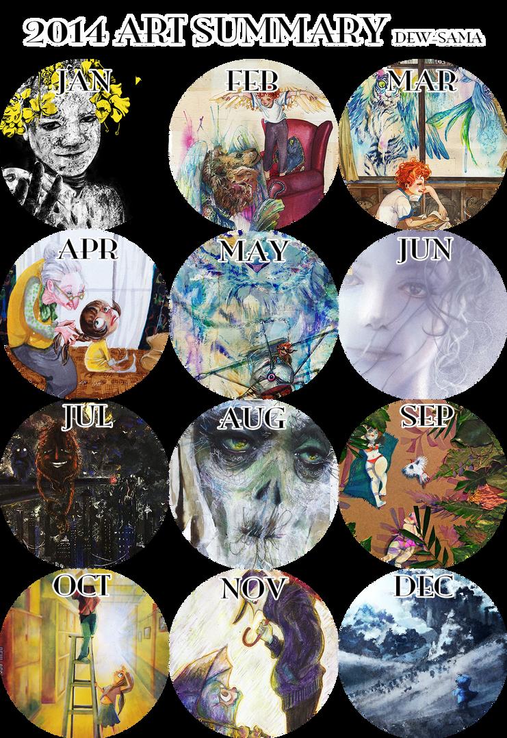 2014 Art Summary by Dew-Sama