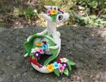 Spring Flower Dragon by AtriaPolymerClay