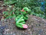Forest blossom Dragon by AtriaPolymerClay