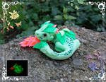 Full Fluorescent Forest Dragon Baby by AtriaPolymerClay