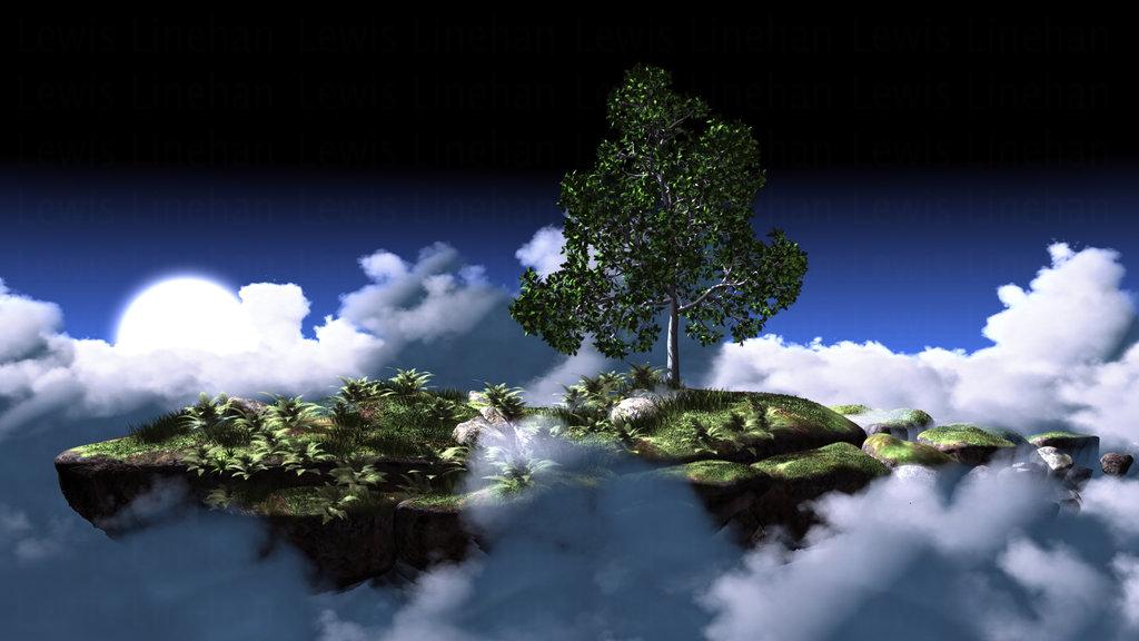 Island in the Clouds by RetroLin