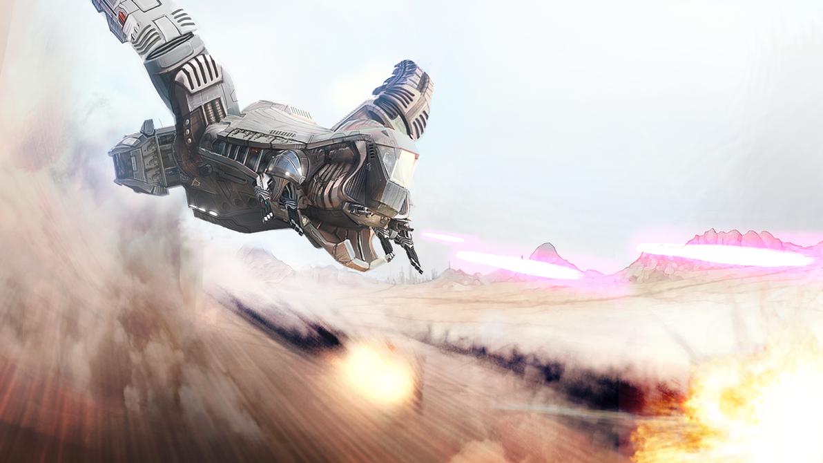 Viper KL Starship - Desert Assault by RetroLin