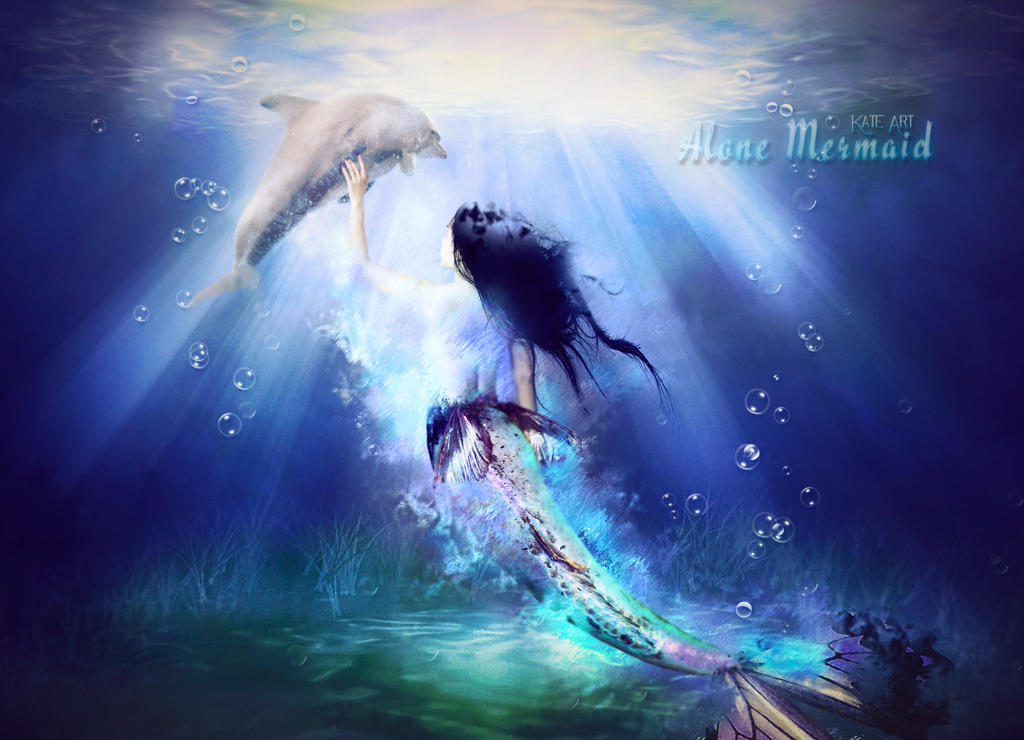 Alone mermaid by Katecita