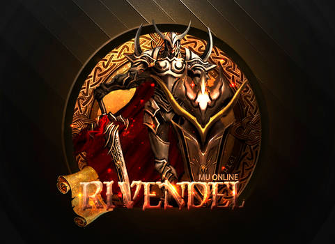 Logo MuRivendel (fondo negro)