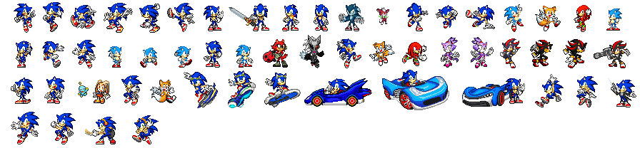 Sonic Art Reference Poses