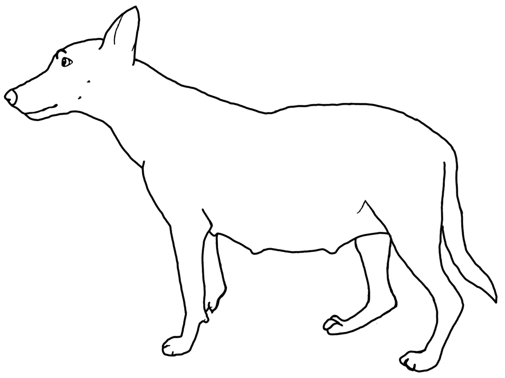 Line Art Dog : Pregnant dog line art free by hannahloulou on deviantart