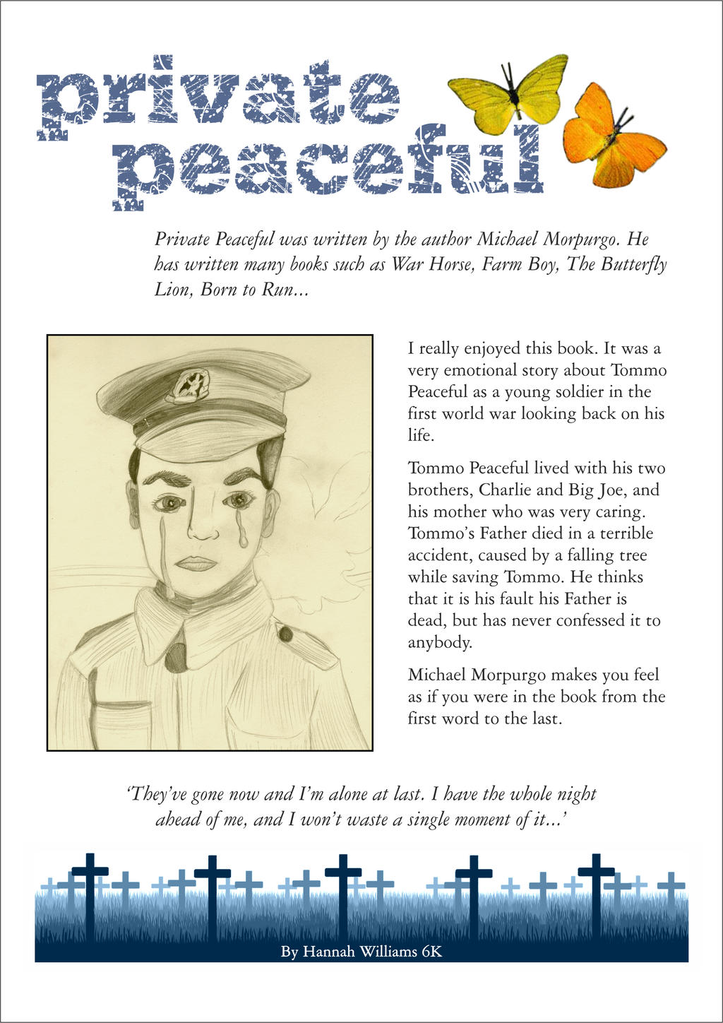 Private Peaceful Characters - BookRags.com | Study Guides ...
