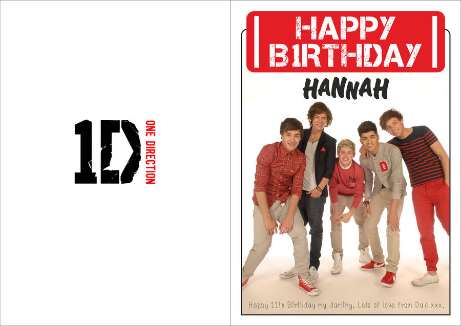 One Direction Birthday Card By Hannahloulou On Deviantart
