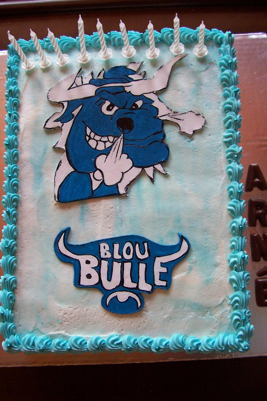 Cake Art Supplies Tucker Ga : Pin Blue Bulls Party Supplies Cake on Pinterest