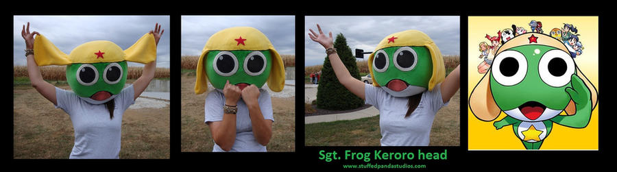 Keroro mascot head by stuffedpanda-cosplay