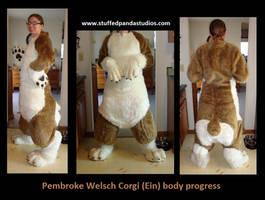 Ein the corgi progress by stuffedpanda-cosplay