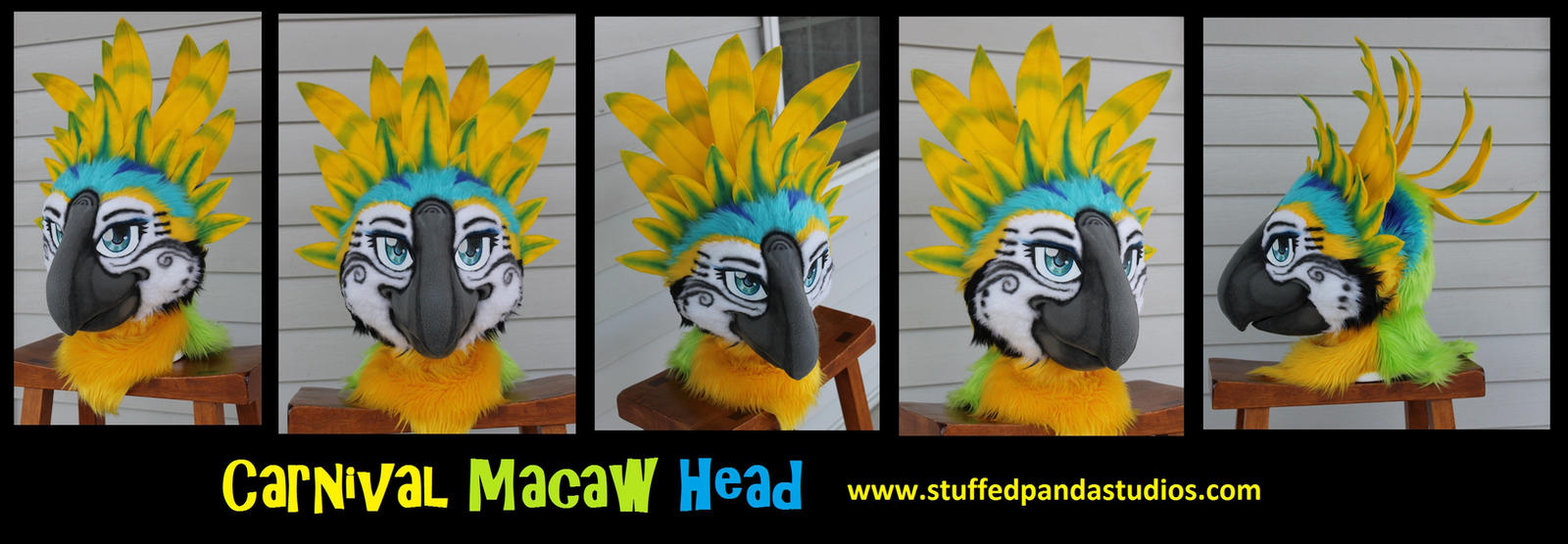 Carnival Macaw head by stuffedpanda-cosplay