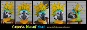 Carnival Macaw head by stuffedpanda-cosplay