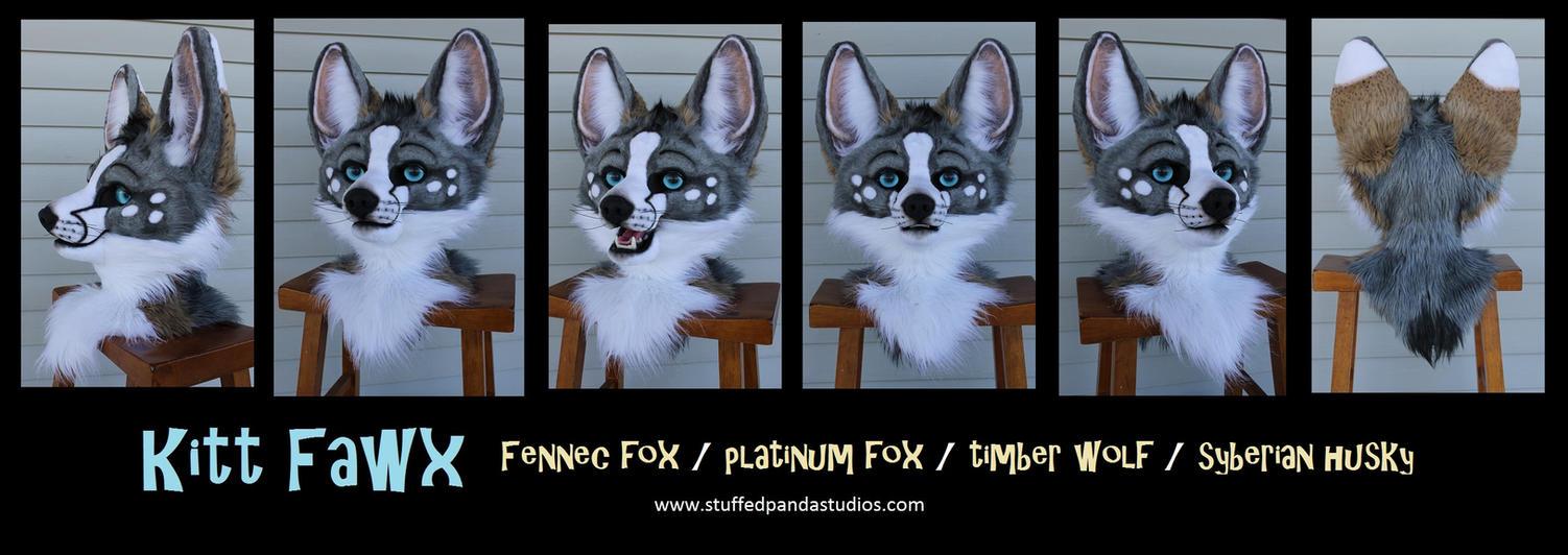 Kitt Fawx Head by stuffedpanda-cosplay
