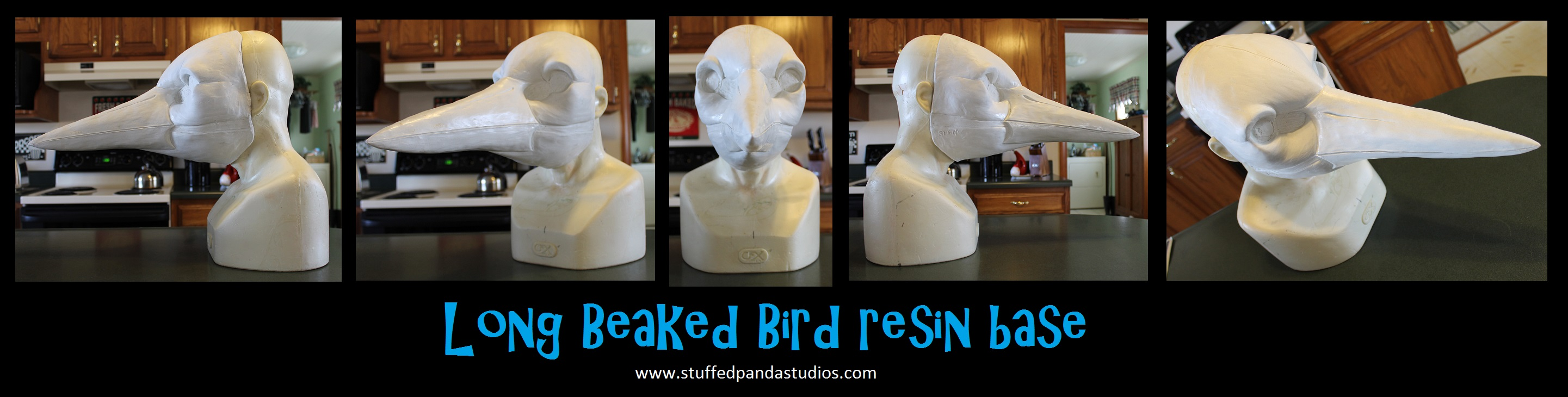 Long Beaked Bird resin base heron, crane, crow,etc by stuffedpanda-cosplay