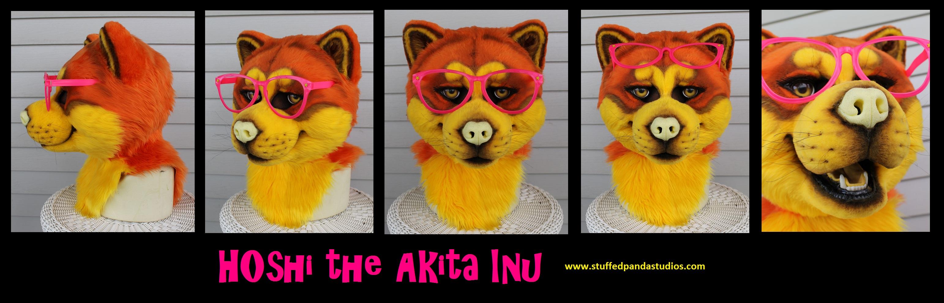Hoshi the Akita Inu mask by stuffedpanda-cosplay