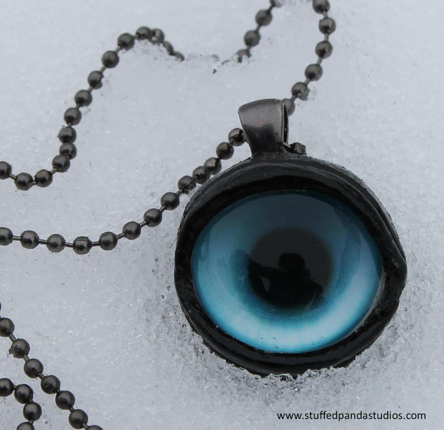 Ice wolf eye pendant by stuffedpanda-cosplay