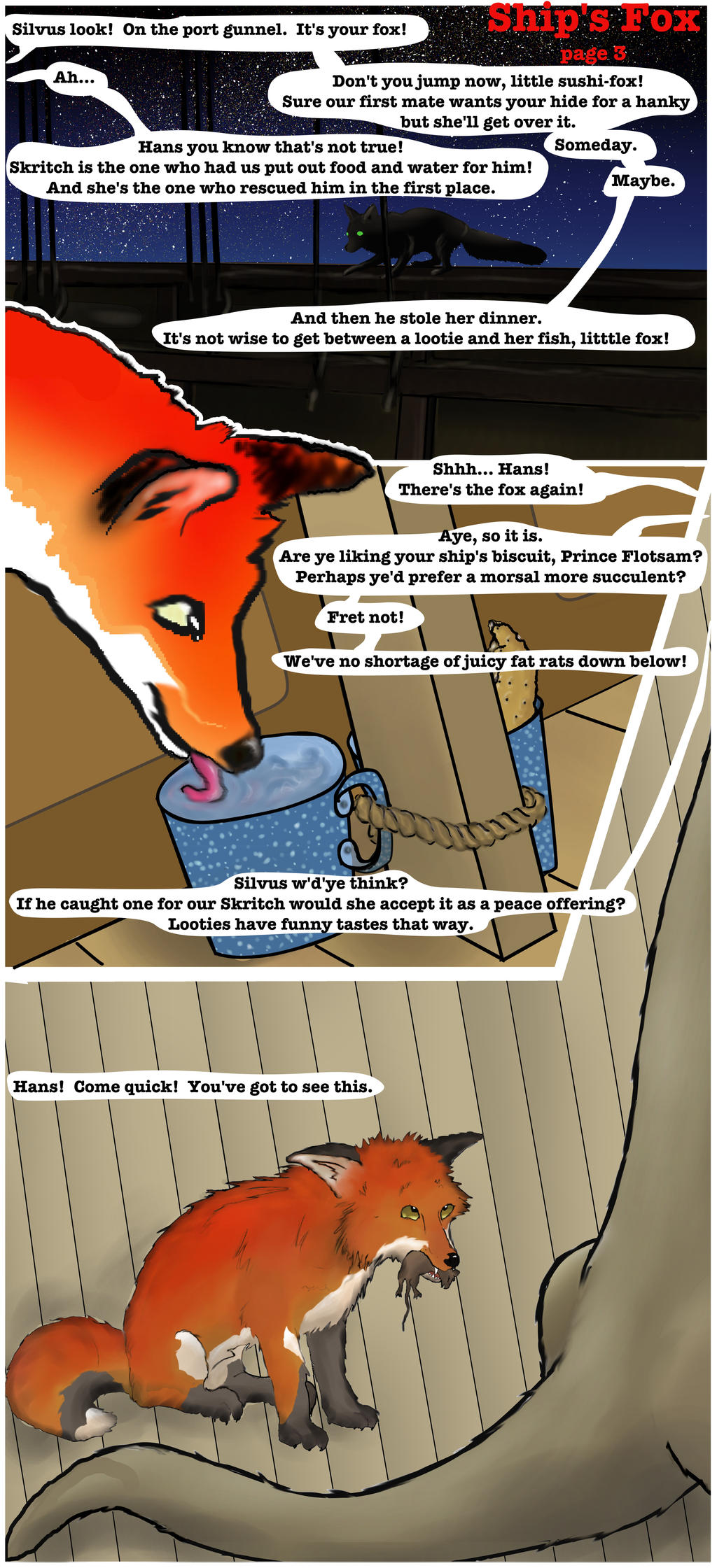 Ship's Fox page 3 by songdawg