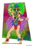 Mardi Gras/Carnival Guy by NonComposMentisStuff