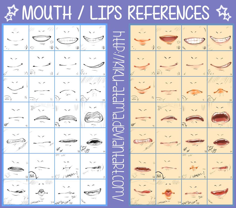 Mouth/ Lips References by kiku-atama