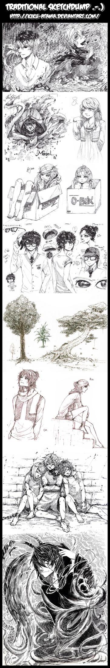 Traditional Sketchdumps by kiku-atama